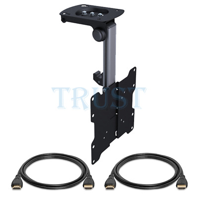 """Ceiling TV Wall Mount Bracket 17"""" - 37"""" Inch LCD LED HD TV + 2x 6FT HDMI Cables"""