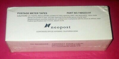 NEW SEALED GENUINE Neopost Postage Meter Tapes Part No. 7465233-01 Qty 300 Pcs