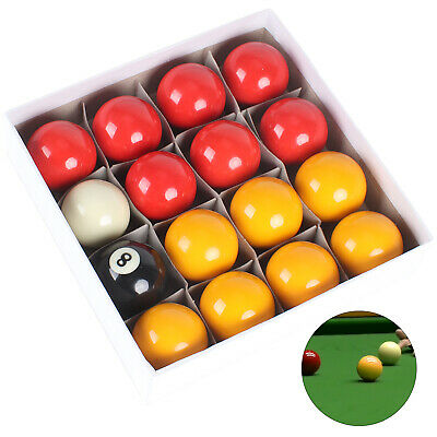 "2"" Red And Yellow Pool Balls Set - Quality Competition / Match Balls For Pool"