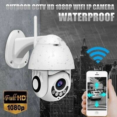 1080P WIFI IP Camera WHITE Wireless Outdoor CCTV HD Home Security IR Cam B6N0M