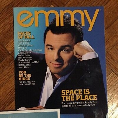 Emmy Issue Issue 8 2017 Seth MacFarlane Family Guy Actor Writer
