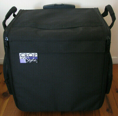 Crop In Style Expandable Scrapbook/Craft Storage Bag/Trolley On Wheels.