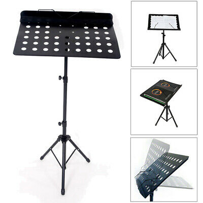 Professional Conductor Music Stand Sheet Holder Mount Folding Stage