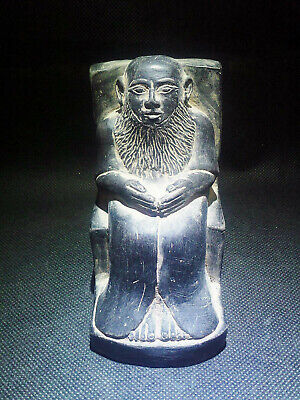 EGYPTIAN ANTIQUES ANTIQUITY Priest Imhotep Sculpture Figure 1549-1104 BC