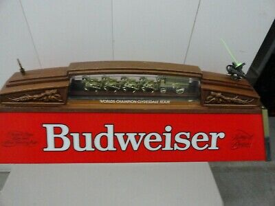 Budweiser World Champion Clydesdale Team Pool Table Light Sign 40 Inches Long