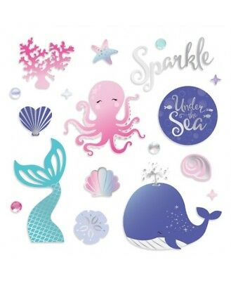 Creative Memories 12 x 12 Mermaid Cove Foiled embellishments