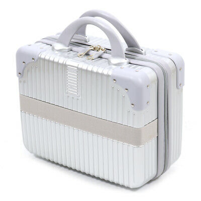 Waterproof Lightweight Hardshell Handbag Suitcase Travel Cosmetic Bag - Silver
