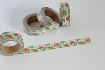 Summery floral print washi tape, cute washi tape, planner accessories