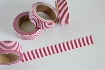 Candy Cane stripes washi tape, Christmas Washi Tape, Planner accessories