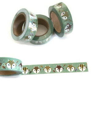 Fox washi tape, Cute Fox Washi Tape, Woodland theme, Planner accessories
