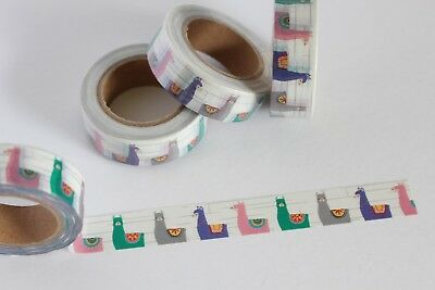 Llama washi tape, Alpaca washi tape, Cute washi tape, Planner accessories
