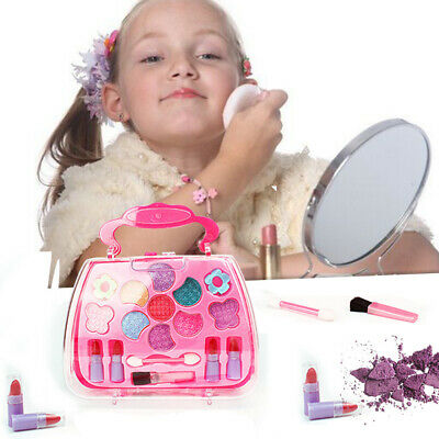 Pretend Kids Make Up Gifts Set NON-TOXIC Makeup Case Box Toys for Girls rto