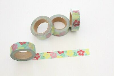 Hibiscus washi tape, Floral Washi Tape, Hawaiian washi tape, Planner accessories
