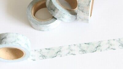 Marble washi tape, stone look washi, grey marble washi tape, Planner accessories