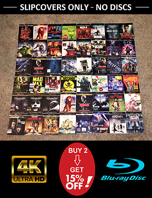 4K UHD / Blu ray SLIPCOVERS ONLY - No Discs - Updated Often - Buy 2  Save 15%!