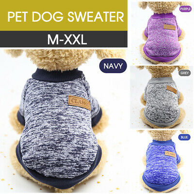 Winter Jumper Sweater Cute Pet Dog Warm Clothes Puppy Cat Knitwear Knitted Coat