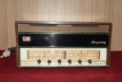 Vintage Kingsley Radio Gram Garrard Turn Table Valve Radio