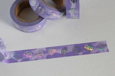 Lavender washi tape with silver foil gems, Cute washi tape, Planner accessories