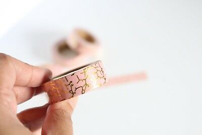 Gold foil crackle print washi tape, cute washi tape, planner accessories