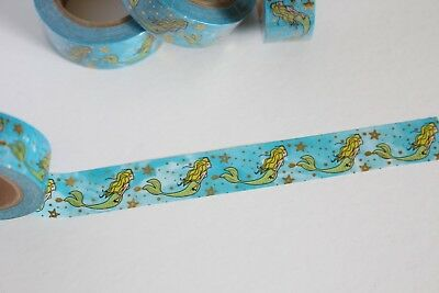 Gold foil mermaid washi tape, Cute Washi Tape, Planner accessories