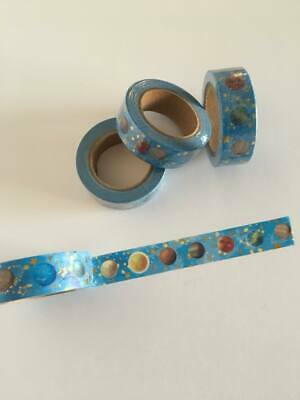 Planets washi tape, gold foil washi tape,Cute Washi Tape, Planner accessories