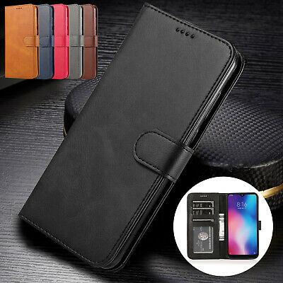 For Xiaomi Redmi Note 7 6 Pro Mi 8 9 SE Case Flip Leather Wallet Magnetic Cover