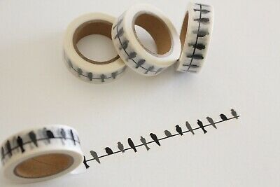 Birds on a wire washi tape, Blackbirds washi, Washi Tape, Planner accessories