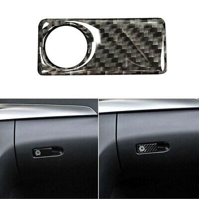 Real Carbon Fiber Drive Side Storage Box Switch Handle Trim Fit For Benz C E GLC