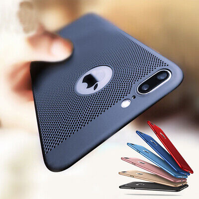 Ultra Thin Shockproof PC Mesh Hard Back Case Cover For iPhone XS Max XR 7 8 Plus