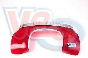 Vespa SS180 Flyscreen made in Transparent Red With Fixings