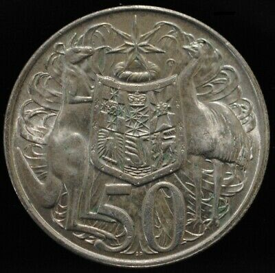 1966 Australian Round Fifty 50 Cent Coin  80%  Silver. #4