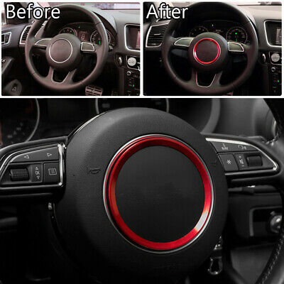 RED For AUDI A1 A3 A5 A6 A7 Q3 Q5 Interior Styling Steering Wheel Trim Sticker