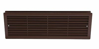 Brown Bathroom Door Air Vent Grille 466mm x 148mm Two Sided Ventilation Cover