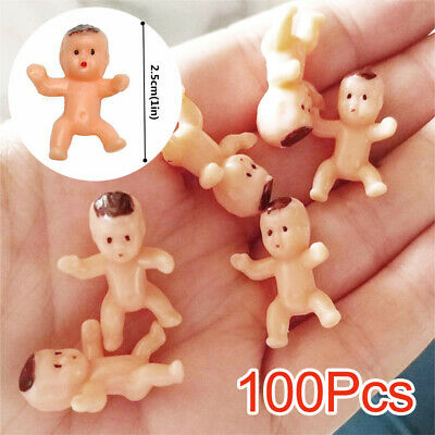 """UK 100pcs 1"""" Mini Plastic Baby Favor Supplies For Baby Shower and Ice Cube Game"""