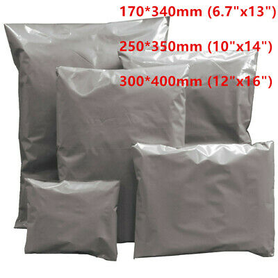 90Pcs Strong Mixed Mailing Bags Extra Large Grey Plastic Postage Postal Bags