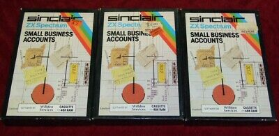 Small Business Accounts app for Sinclair ZX Spectrum on cassette tape
