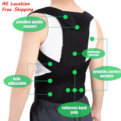 US Posture Corrector Corset Support Back Shoulder Brace Belt For Men Women Hot