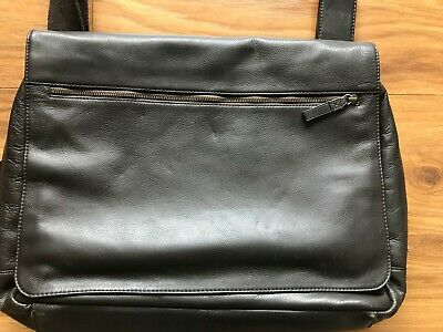 For Repair - lightly used  John Lewis  Leather Messenger Bag Brown rp £129