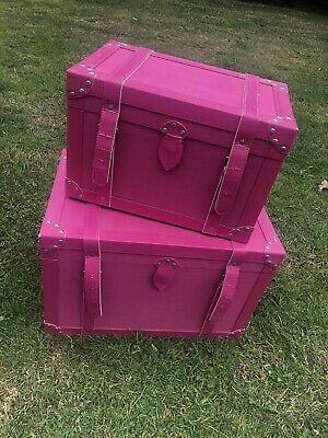 Pink Storage Trunks