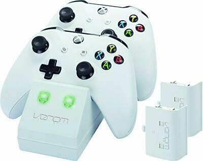 Venom Xbox One Twin Docking Station with 2 x Rechargeable Battery Packs: White