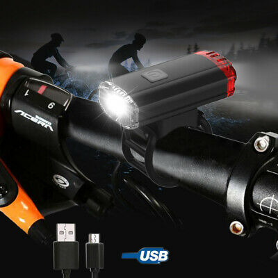 USB Rechargeable Front Lamp 400LM MTB LED Light Helmet Light Bicycle Headlight G