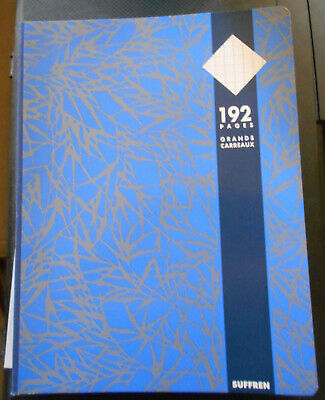 Cahier bleu 192 pages grands carreaux SUFFREN 24x32 cm seyes velin surfin 70 g