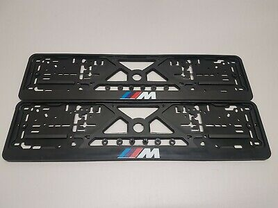 2x European License Number Plate Frame Holder Surround for BMW M power edition