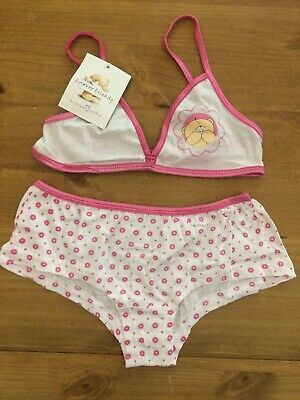 Brand New Girls Forever Friends 100% Cotton Bra Knickers Matching Underwear Set