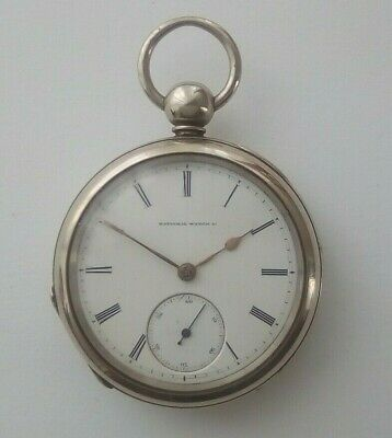 RARE, ANTIQUE AMERICAN, NATIONAL WATCH Co, WH FERRY, POCKET WATCH, c1871