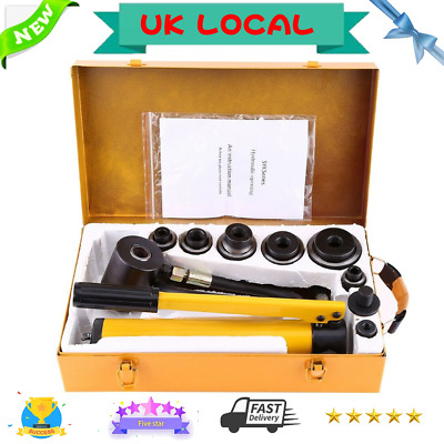 Manual Heavy Duty 10 T Hydraulic Hand Pump Knockout Metal Working Hole Punch UK