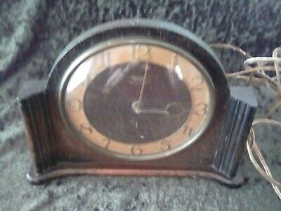 Smiths Sectric Electric Wood Mantel Clock