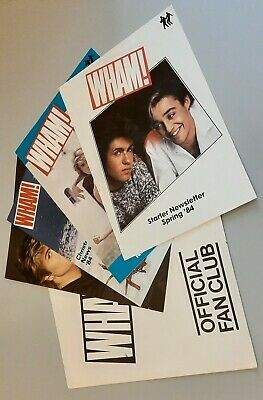 Wham RARE OFFICIAL Wham Fan Club Folder and Starter Newsletters! George Michael