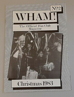Wham IMPOSSIBLY Rare SECOND EVER Wham FAN CLUB Magazine! George Michael