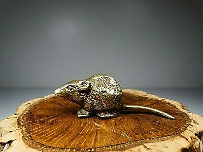 ANTIQUE 1900S SMALL MOUSE IN SOLID BRASS      87 Gram´s       2   61⁄64 inch